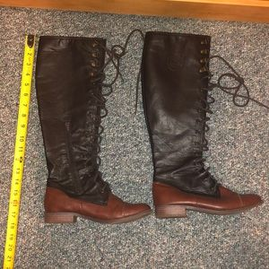 Lace up boots size 6